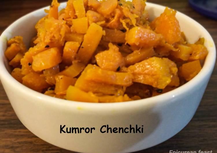 Kumror Chenchki Pumpkin Stir fry