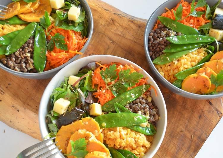 Buddha Bowl végétarien bicolore au cumin