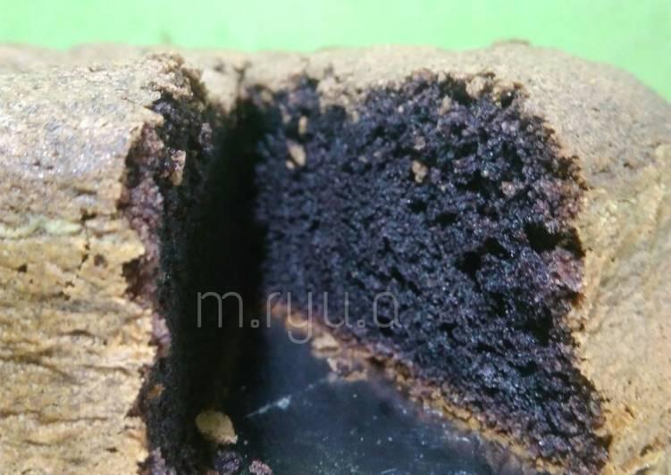 cara buat Bolu ketan hitam panggang simpel (4 bahan) - Sajian Dapur Bunda