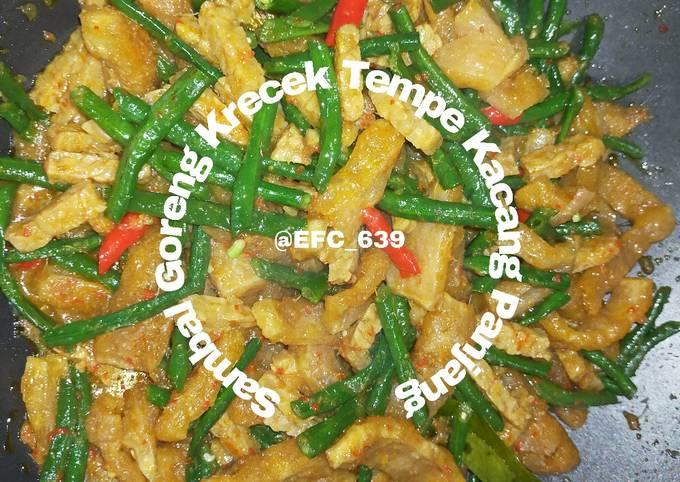 sambal goreng krecek tempe kacang panjang - resepenakbgt.com