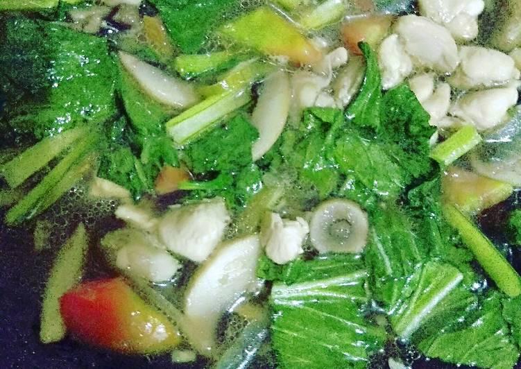 Resep Tumis Sawi Ayam Jamur Yang Simple Bikin Ngiler