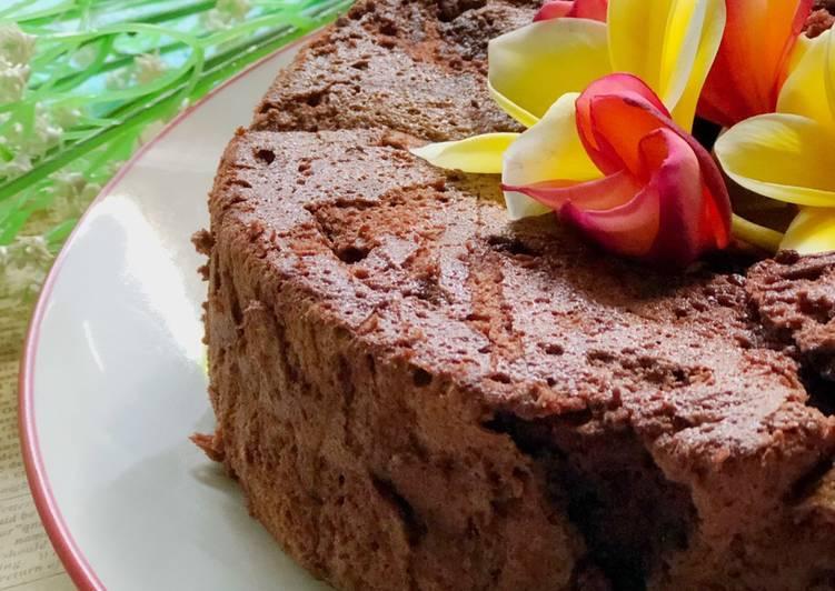 Chiffon Coklat Putel ala Tiger Kitchen