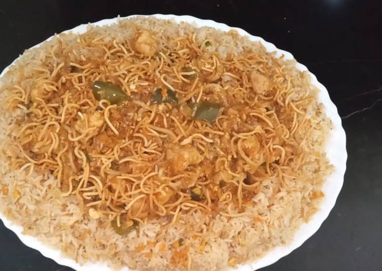 Easiest Way to Prepare Yummy American chop suey with fried rice