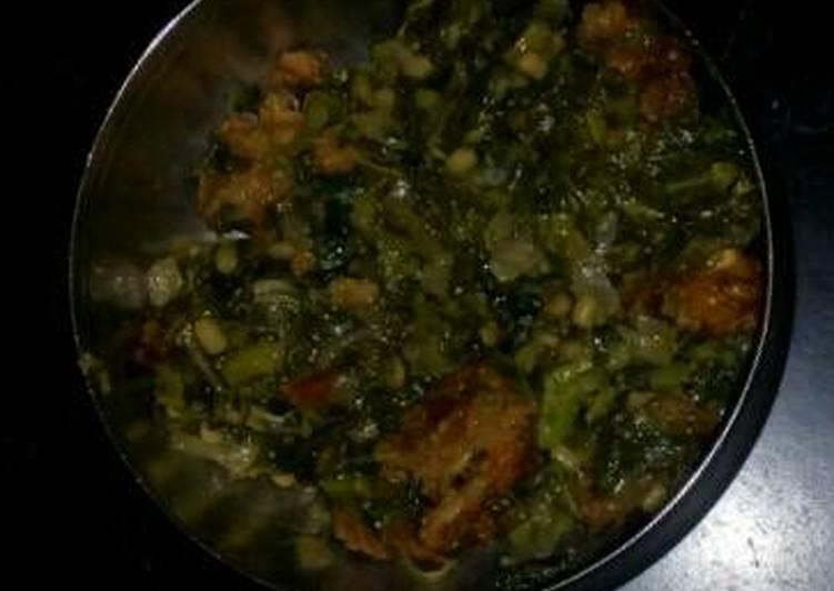 Recipe of Super Quick Homemade Amaranthus curry recipe (Thotakura)