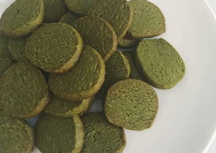 La Meilleur Recette De 🇯🇵️ Les biscuits au matcha (thé vert japonais), rapides et faciles