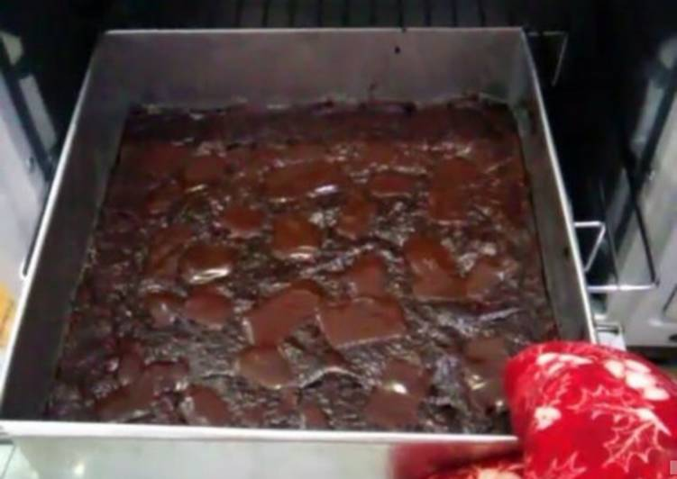 Super fudgy brownies coklat,ga bakal cari resep brownies lagi!