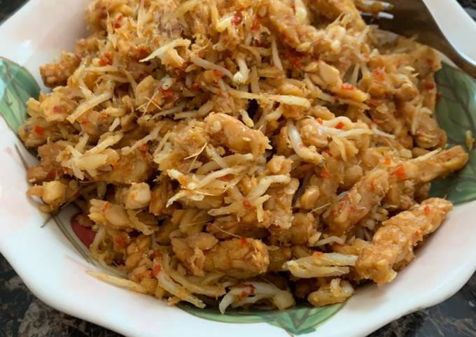 Kering Teri Tempe resep Mama Mertua (mudah dan healthy pake Air fryer)