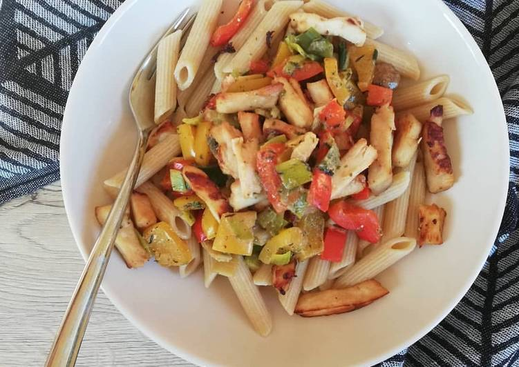 Hähnchen-Gemüse-Pasta