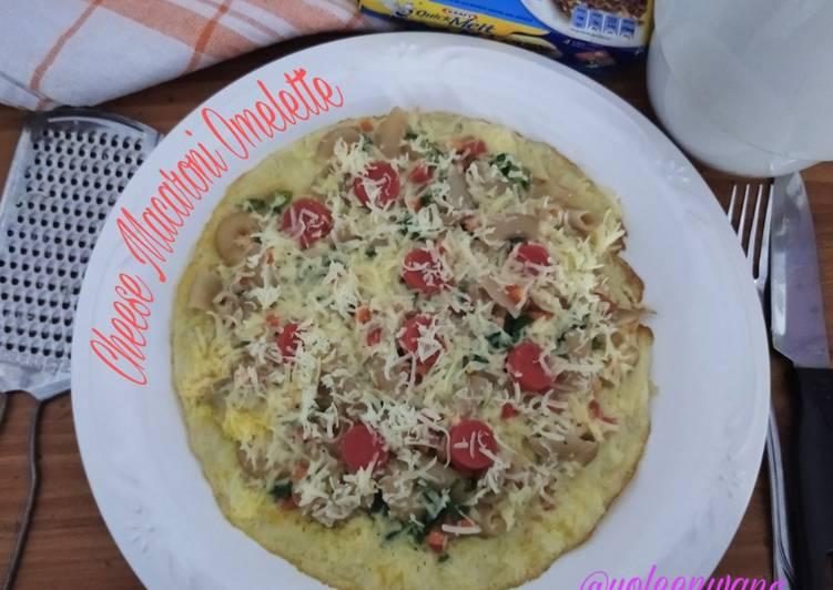 Cheese Macaroni Omelette