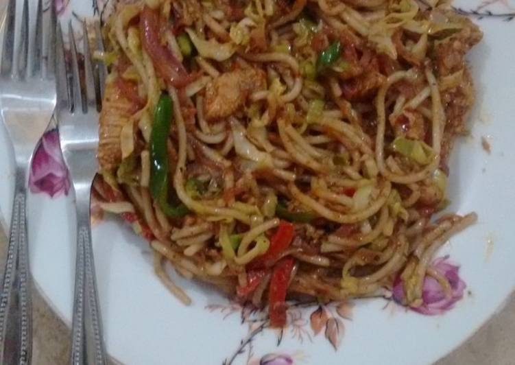 Recipe: Perfect Spicy 5 Star Masala Chicken Noodles