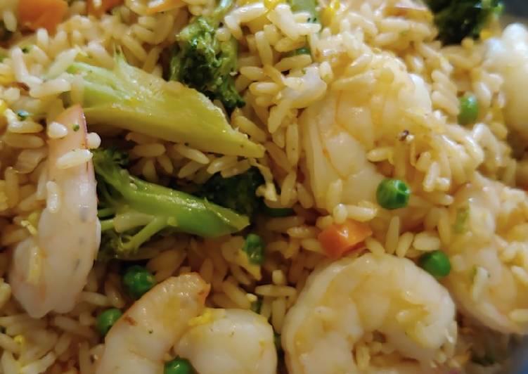 Shrimp veggies fried rice