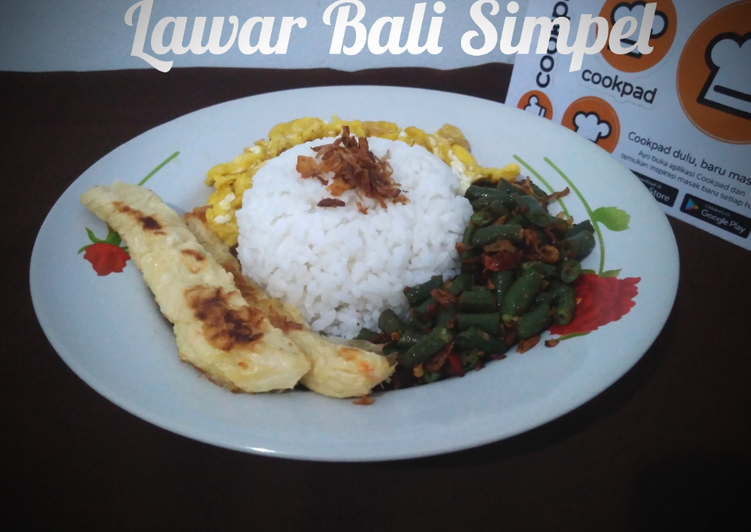 Lawar Bali Simpel