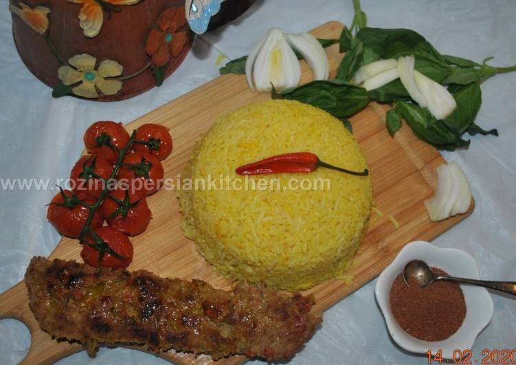 Iranian Pan Fried Ground Chicken Kebab