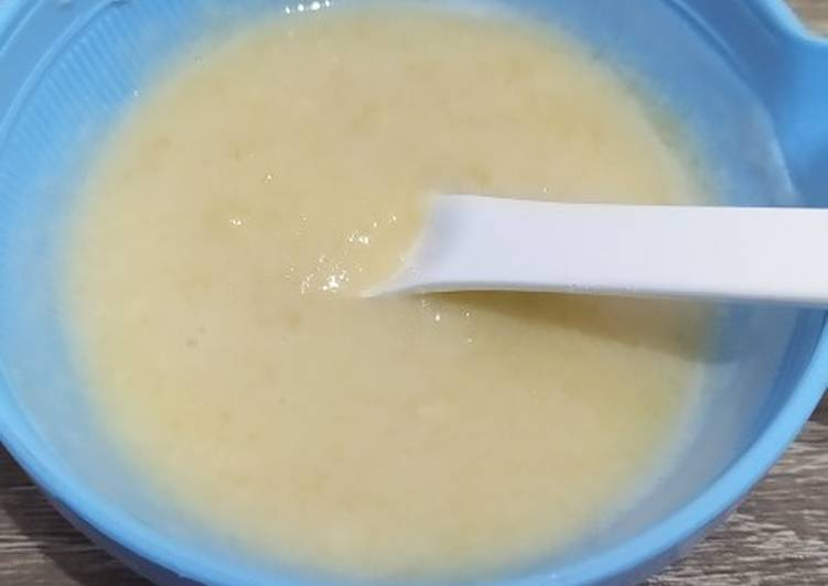 Snack mpasi 6 bulan - pisang apel yoghurt