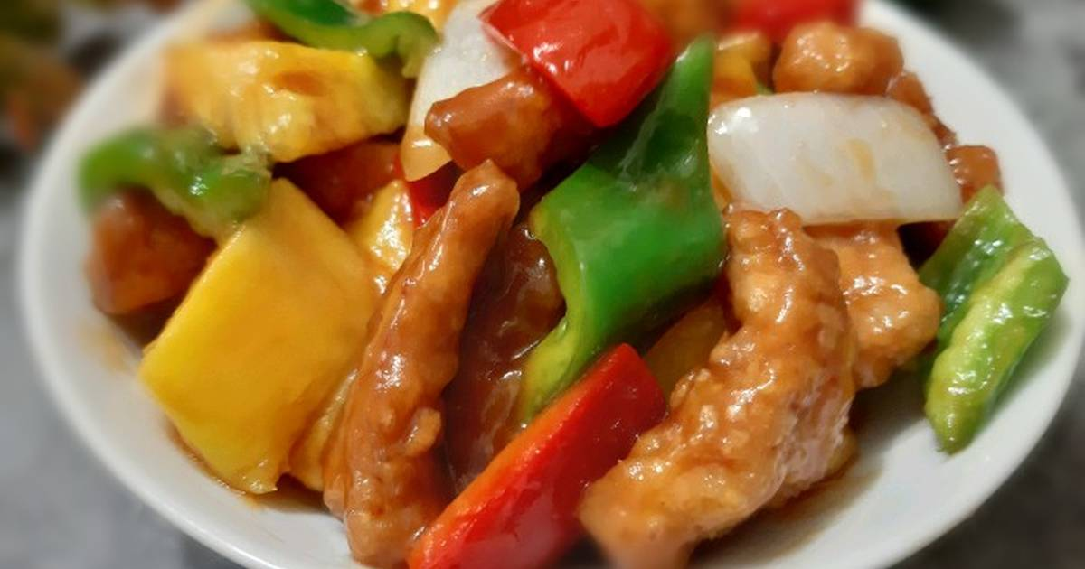 Chinese Sweet And Sour Pork Cantonese Dish Recipe By Jasmine Cookpad