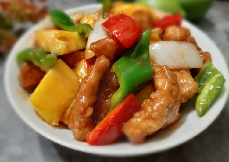 Chinese Sweet and Sour Pork (Cantonese Dish)