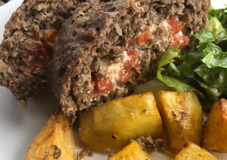 Meatloaf with a Greek touch