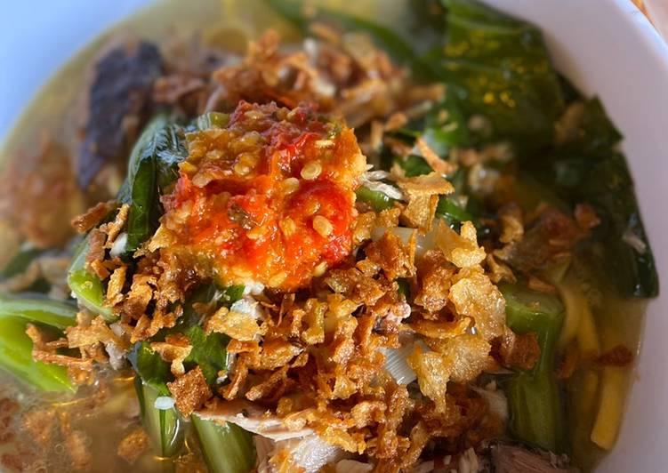 Recipe: Yummy Cakalang Noodles Soup (Mie Cakalang Manado)