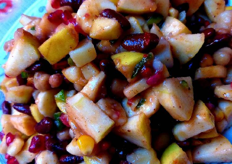 Living Greener for Greater Health By Consuming Superfoods Mix beans chaat or salad