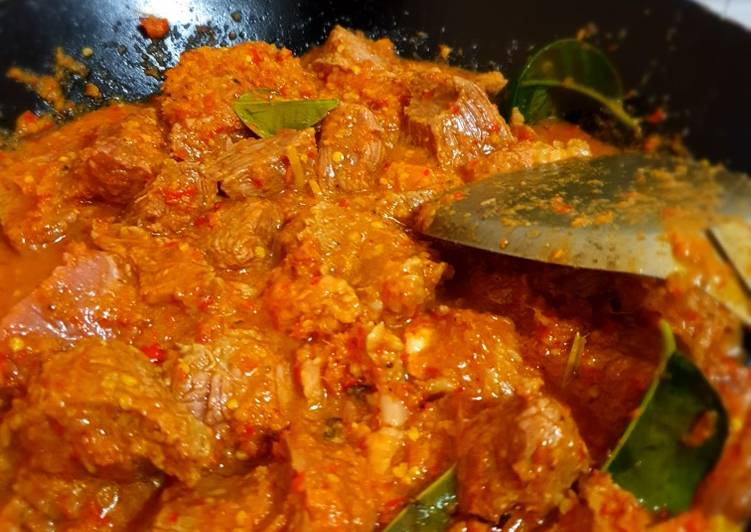 Rendang Daging kentang