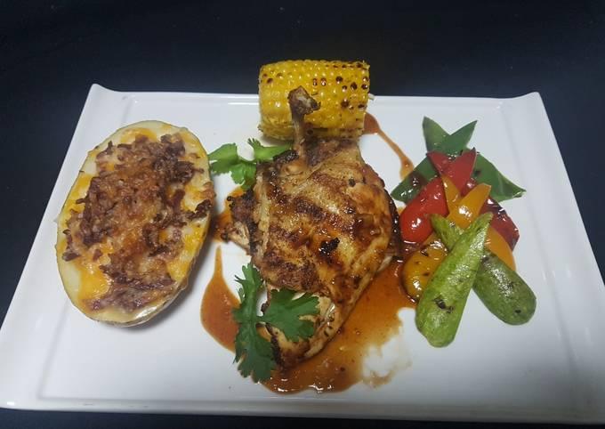Grilled chicken churasco