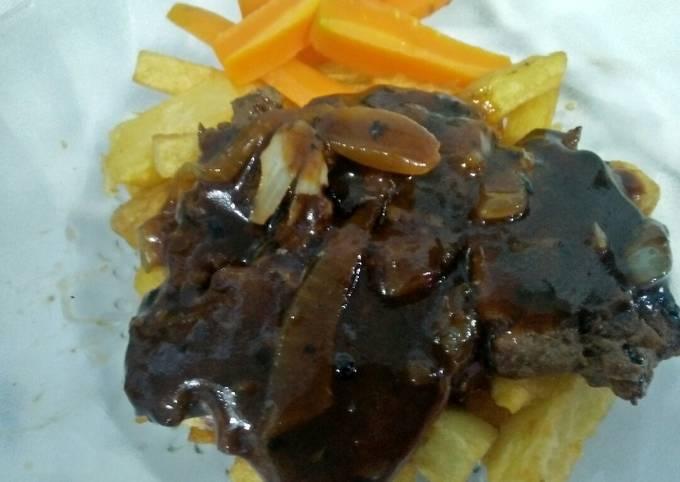 Bagaimana Menyiapkan Steak Daging Sauce Blackpapper, Bikin Ngiler