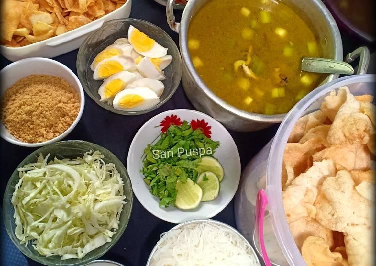 Soto Ayam (komplit)