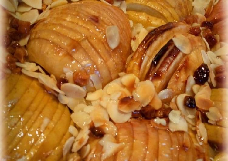 Tarte aux pommes éclats de caramel tendre