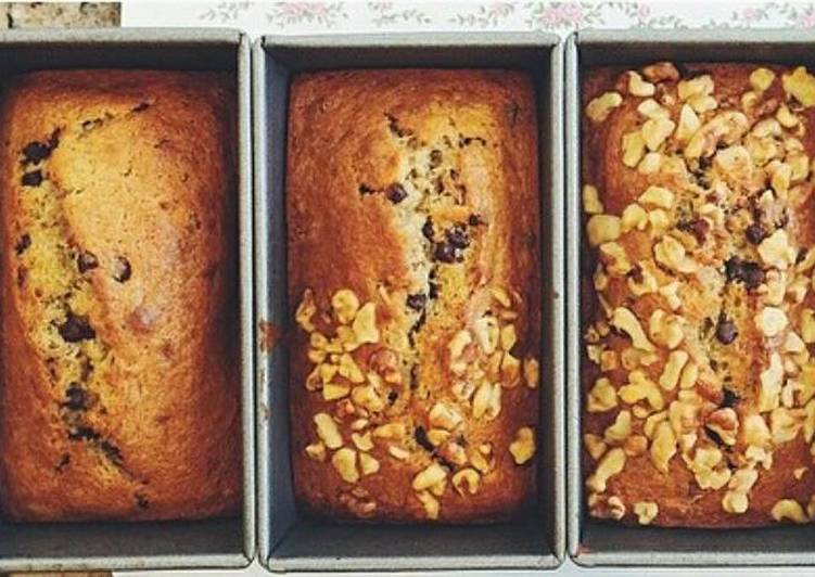 Nutty Chocolate Chip Banana Bread