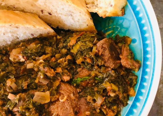 Spinach & beef stew