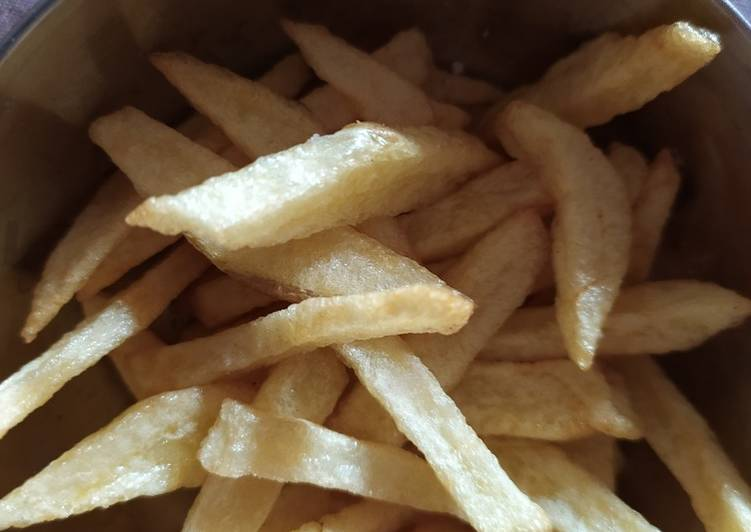 Steps to Prepare Homemade French fries