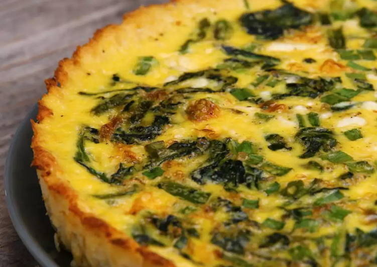 Cauliflower-Crusted Quiche, Help Your Heart with The Right Foods