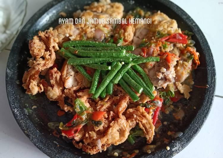 Ayam dan jamur sambal kemangi