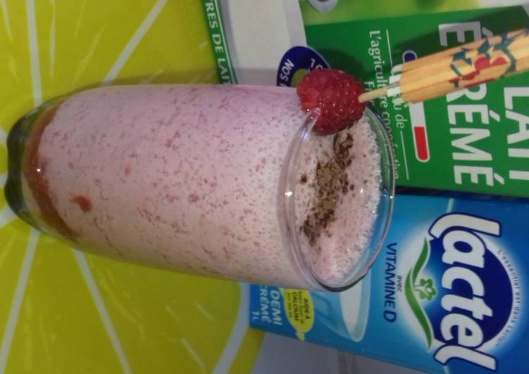 Milk shake à la framboise