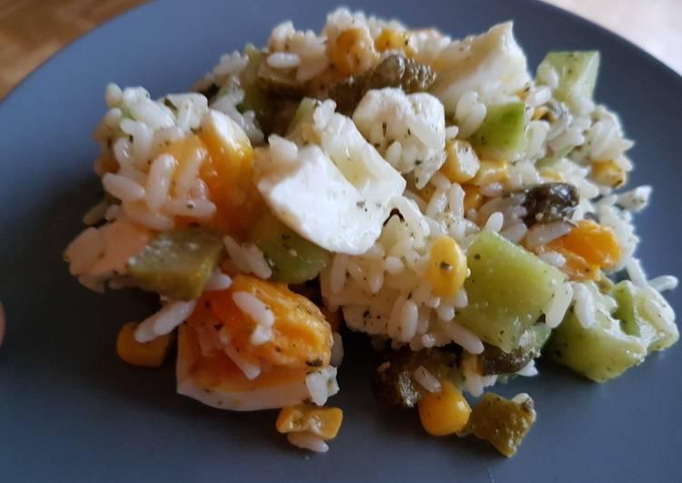 Recette: Parfait Salade de riz concombre fêta