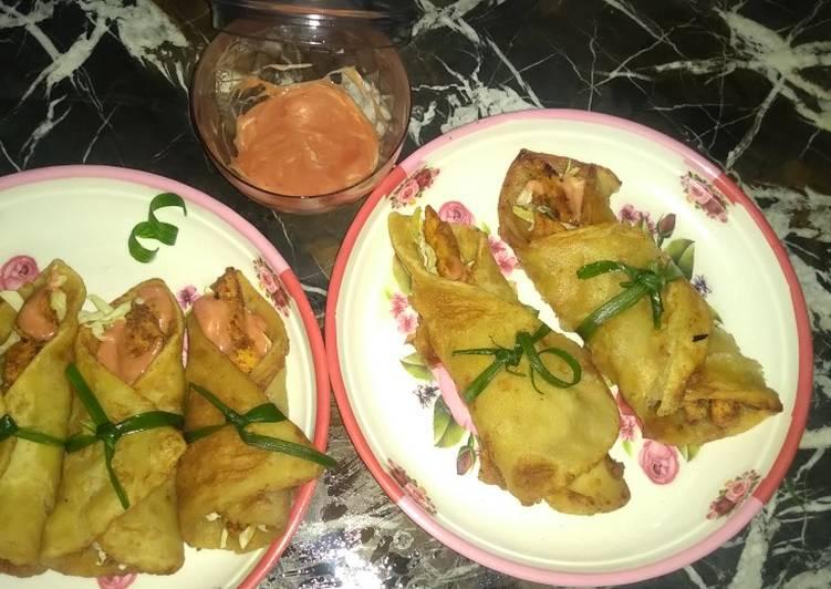Bandu khan Paratha Chicken Rolls