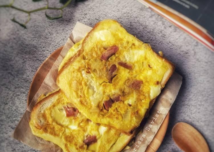 Quiche Roti Tawar Panggang (dengan fried pan)