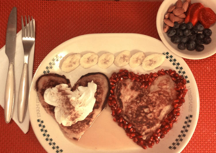 Valentines day Wholewheat Buttermilk Pancakes