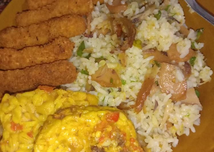 Nasi goreng sisa simpel sehat dan berasaaaa