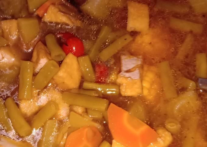 Sayur asam jawa (+ teri goreng)