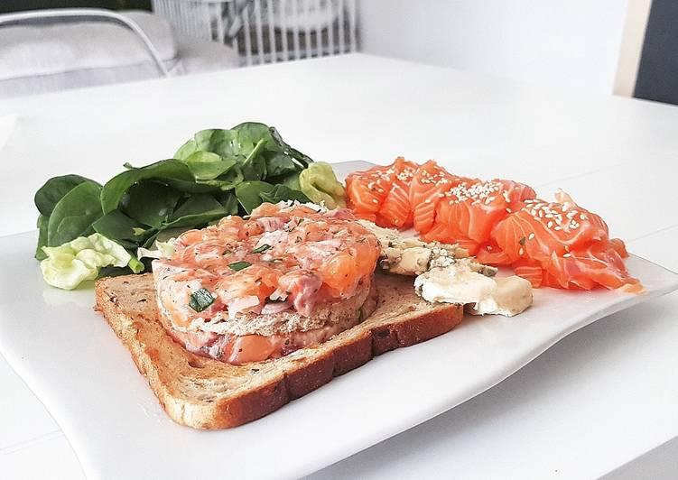 1• Tartare de saumon