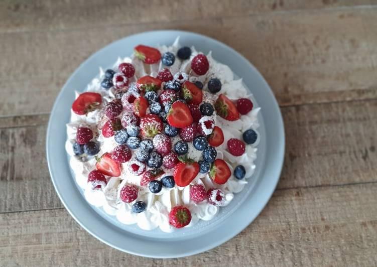 Recette De La pavlova fruits rouges