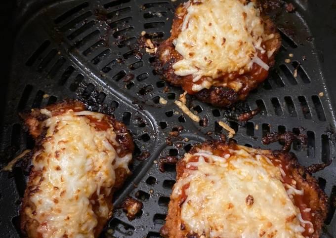 Air fried chicken Parmesan