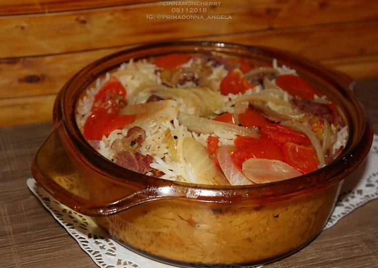 Tomato and Smoked Beef Rice