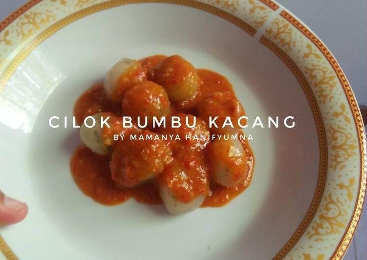 Cilok Sederhana with Bumbu Kacang