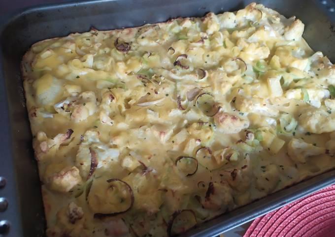 Yellow chicken veggie pie