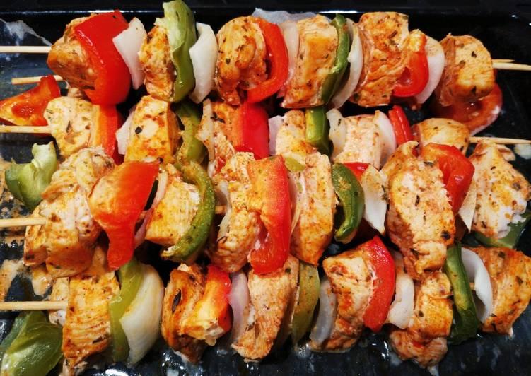 Brochetas De Pollo Con Verduras Receta De Nuria Es Cookpad