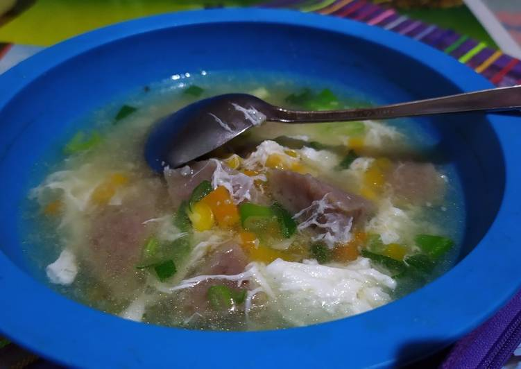 Resep Sup Jagung Baso Sapi Anti Gagal