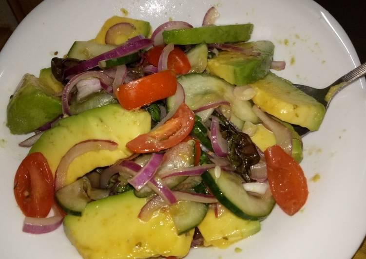 Simple Way to Make Award-winning Lettuce avocado salad #author marathon