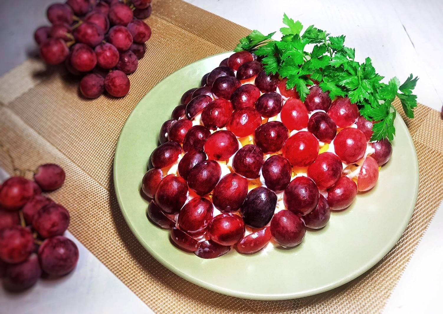 салат виноградная гроздь рецепт с фото пошагово следует смешать яйцо